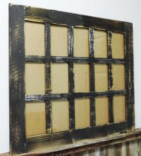 Rustic Barn Wood 15-Pane Picture Frame Collage Window for ...