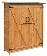 Merax Wooden Garden Shed with Cedar Wood Medium Storage ...