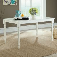 Cottage Farmhouse Style Rectangular Dining Table White ...