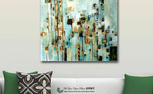 Abstract Stretched Canvas Print Framed Wall Art Home