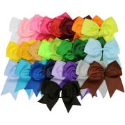 "assortd big 7"" cheer bow pony"