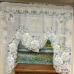 Cafe Curtains For Living Room Big Lots Chairs Vintage Valance Window White | Ebay