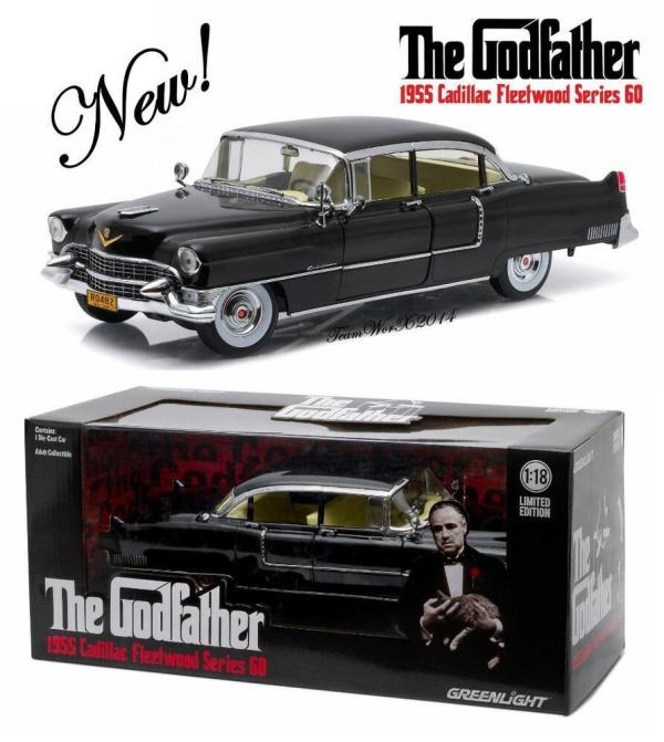 Greenlight Godfather 1955 Cadillac Diecast Model Car 1