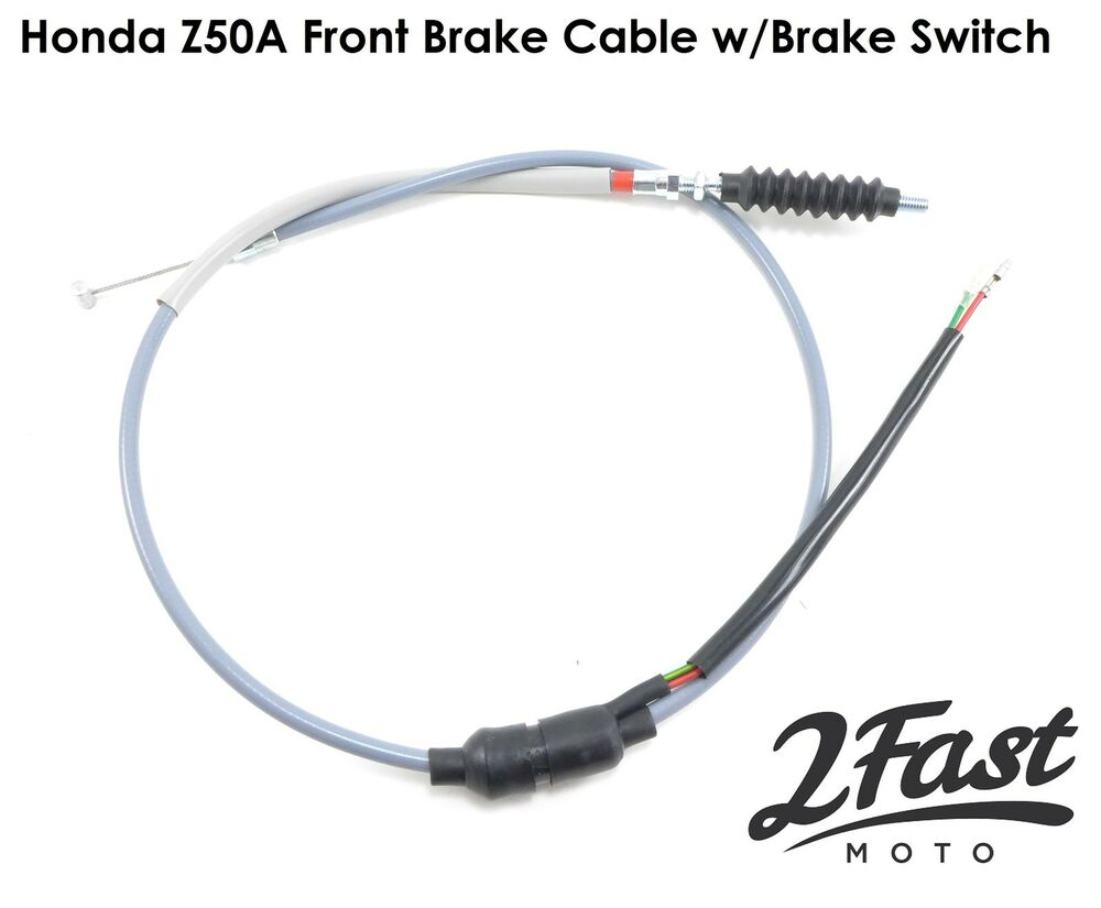 Honda Z50A Gray Front Brake Cable with Brake Switch