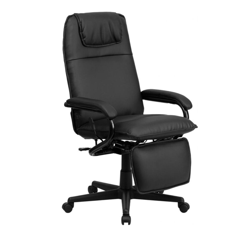 Flash Furniture High Back Black Leather Executive Reclining Office Chair NEW  eBay