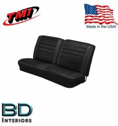 details about 1965 chevy el camino front bench seat upholstery black made in usa by tmi [ 1000 x 1000 Pixel ]