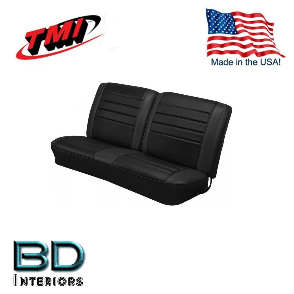 medium resolution of details about 1965 chevy el camino front bench seat upholstery black made in usa by tmi
