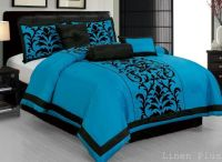 7 Piece Turquoise Black Comforter Set Queen Size DT6 ...