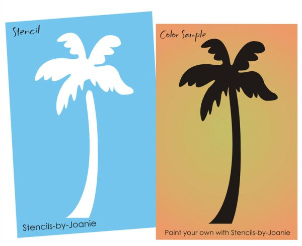 "19"" Tall Palm Tree Stencil Tropical Sun Surf Beach Cafe"