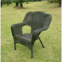 Black Resin Wicker Patio Chairs