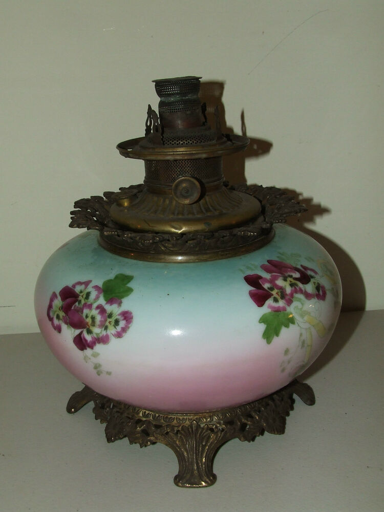 Antique Large Boyd Victorian GWTW Hand Painted Porcelain