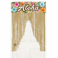 2m Tropical Hawaiian Party ALOHA Grass Doorway Door Sign