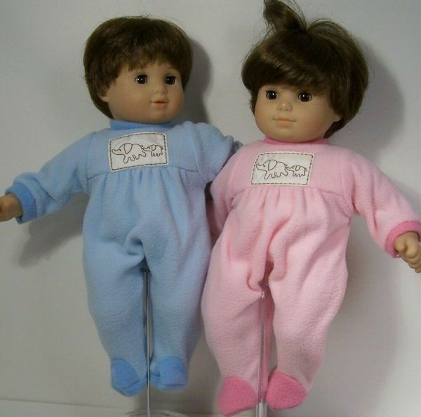 Matching Pink Blue Elephant Pajama Pjs Doll Clothes