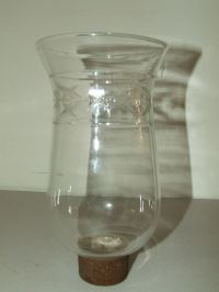 Antique Victorian Glass Crystal Hurricane Candle Lamp