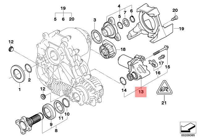 Genuine BMW E60 E61 Transfer Case Actuator Motor OEM