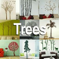 Tree Wall Stickers! Giant Home Transfer Graphics / Forest ...