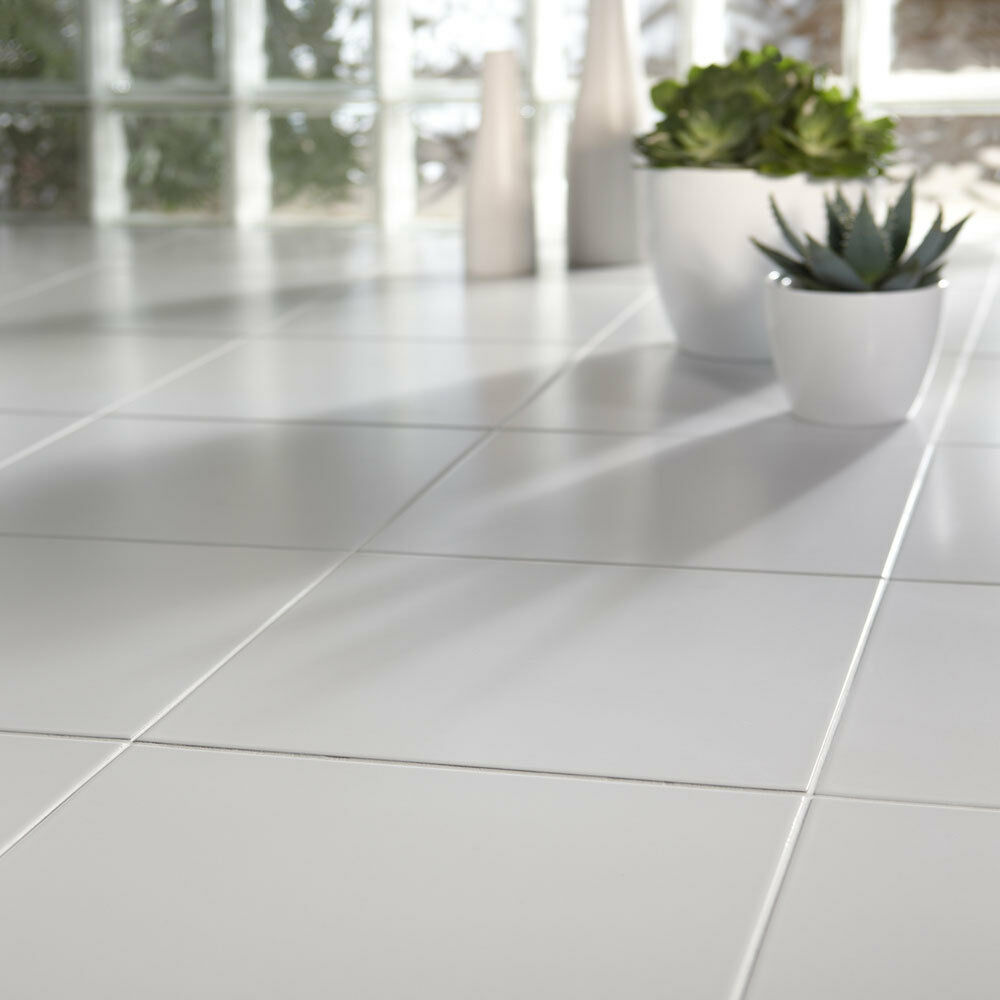 Cheap White Ceramic Floor Tiles 333x333x7mm 510 Sqm  eBay
