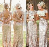 UK NEW Wedding Bridesmaid Evening Sequin Rose Gold Prom ...