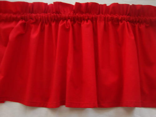 Bright Red Valance Curtain for Kids Room or Kitchen window