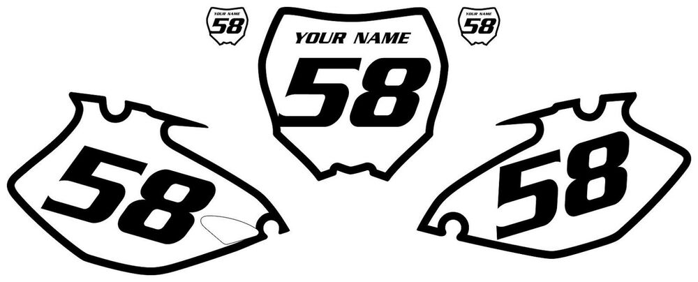 2006-2009 Yamaha YZF250 PrePrinted White Backgrounds with