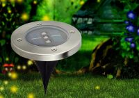 1/5/10Pcs 120mm Solar Powered Outdoor Garden Path LED Lawn ...