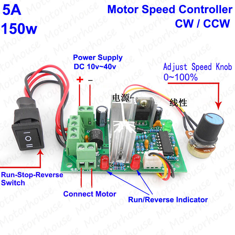 24 Volt Ac Home Wiring Dc 10 40v 12v 24v 36v Pwm Motor Speed Controller Regulator