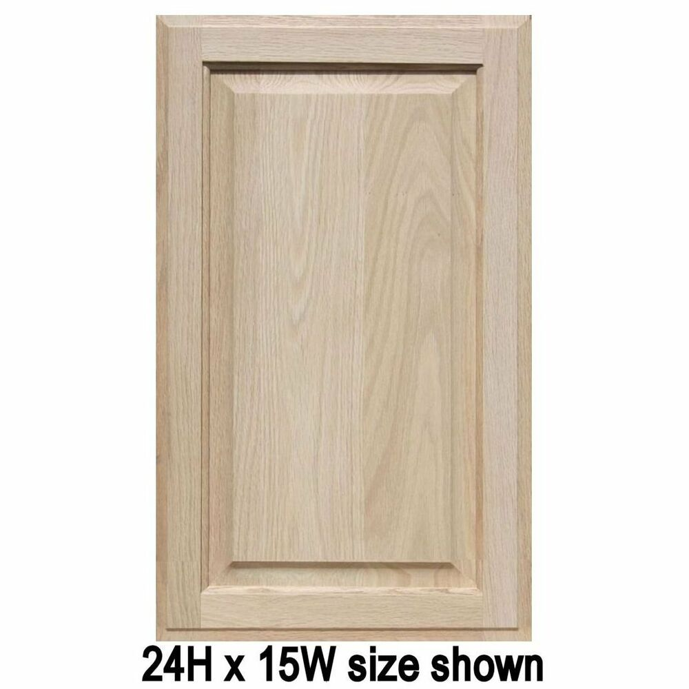 Unfinished Oak Cabinet Doors Square with Raised Panel up
