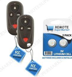 details about replacement for acura 2004 2006 tl 2004 2008 tsx remote car keyless key fob pair [ 1000 x 1000 Pixel ]