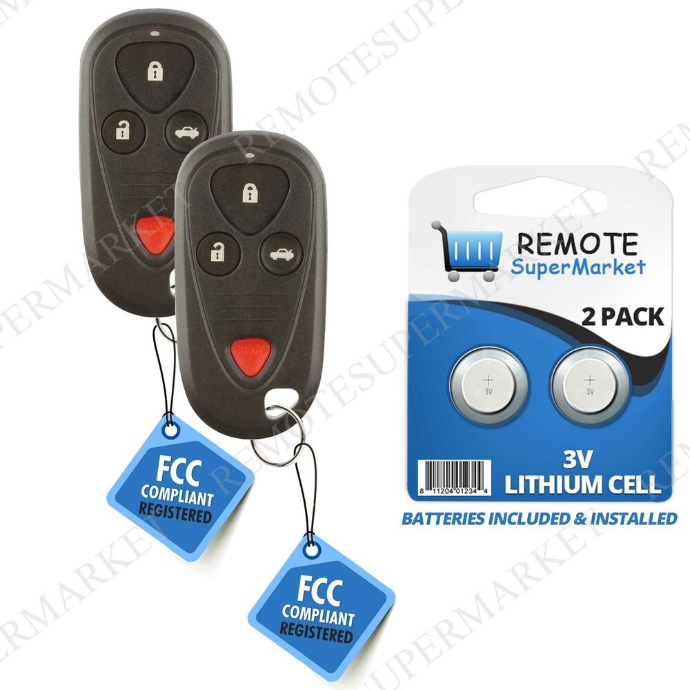 medium resolution of details about replacement for acura 2004 2006 tl 2004 2008 tsx remote car keyless key fob pair