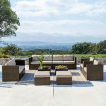 Supernova 12pc Outdoor Rattan Wicker Sofa Sectional Patio