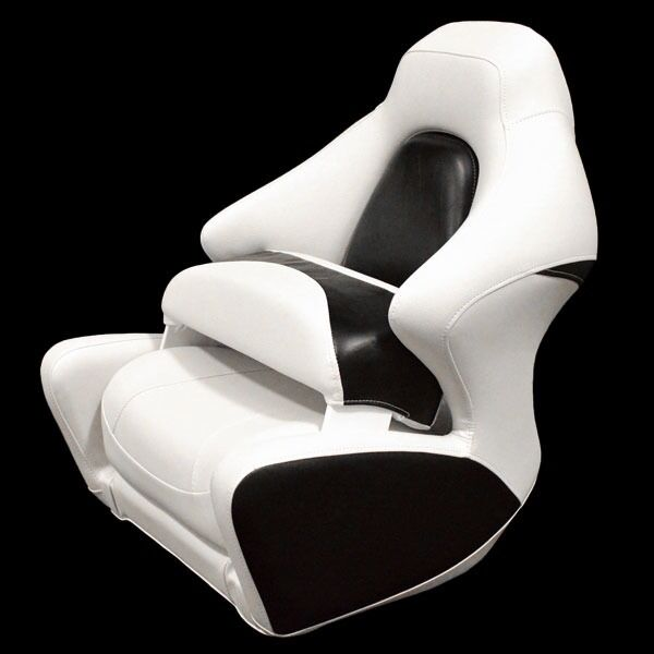 boat captains chair covers for hire cape town crownline white black marine bolster seat detalhes sobre single