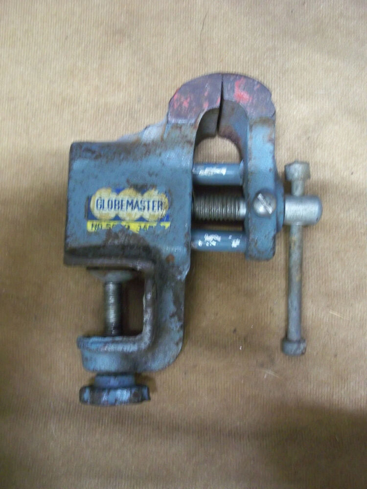 Vintage Globemaster Small Bench Clamp On Vise Collectible
