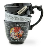 Alice In Wonderland Stacked Coffee Tea Mug Cup Disney ...