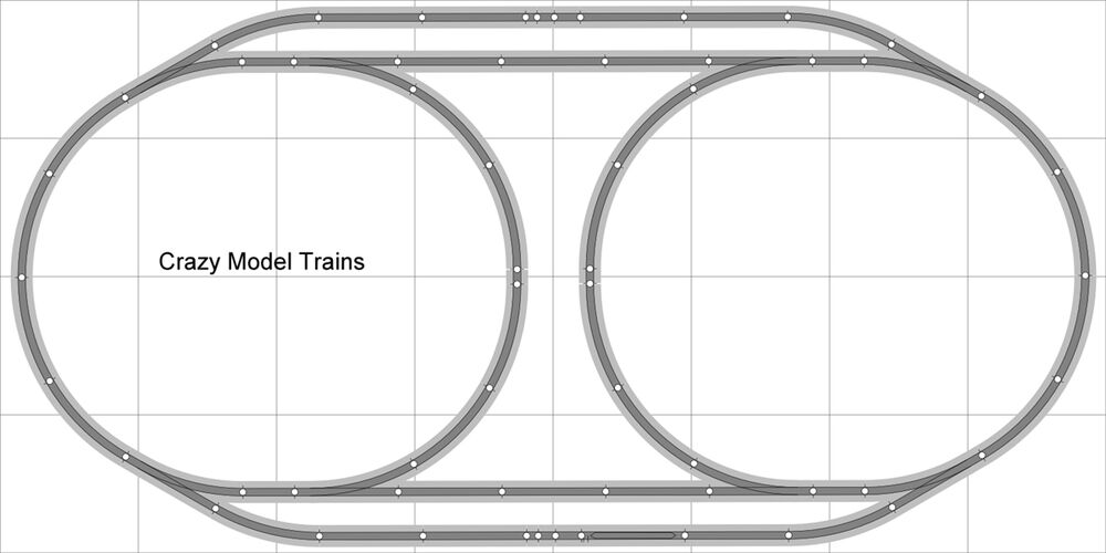 Layout #004 DCC Bachmann HO EZ Track (NS) Nickel Silver 4