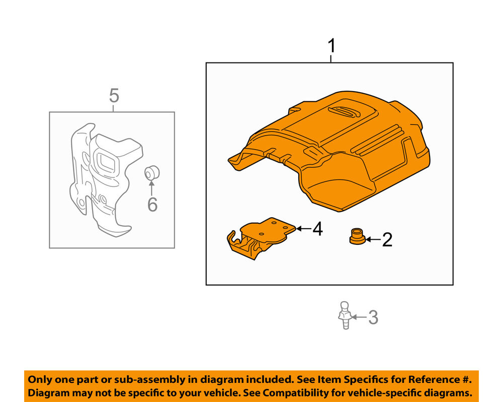 hight resolution of details about gm oem engine appearance cover engine cover 12625893
