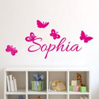 Butterflies Personalized Decal Custom Kids Name Wall ...