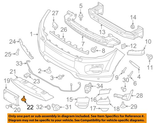small resolution of details about land rover oem range rover evoque front bumper tow bracket cover bolt lr028941