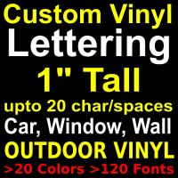 "1"" CUSTOM VINYL LETTERING,STICKERS,LETTERS,DECALS"