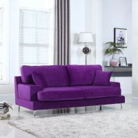 Ultra Plush Velvet Living Room Sofa in Purple