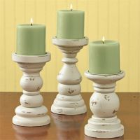 Park Designs Southport Wooden Candle Holders Set of 3 Aged ...