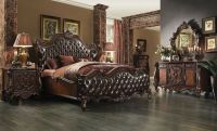 Formal Luxury Antique Versailles Cherry Est King Size 4Pc ...