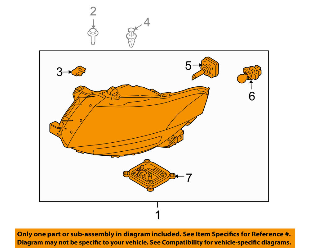 medium resolution of details about lincoln ford oem 10 18 mkt headlight assembly ae9z13008g