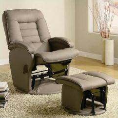 Swivel Reclining Chairs For Living Room Curtain Designs India Coaster Recliners With Ottomans Glider Chair Ottoman ...