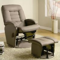 Coaster Recliners with Ottomans Glider Chair with Ottoman ...