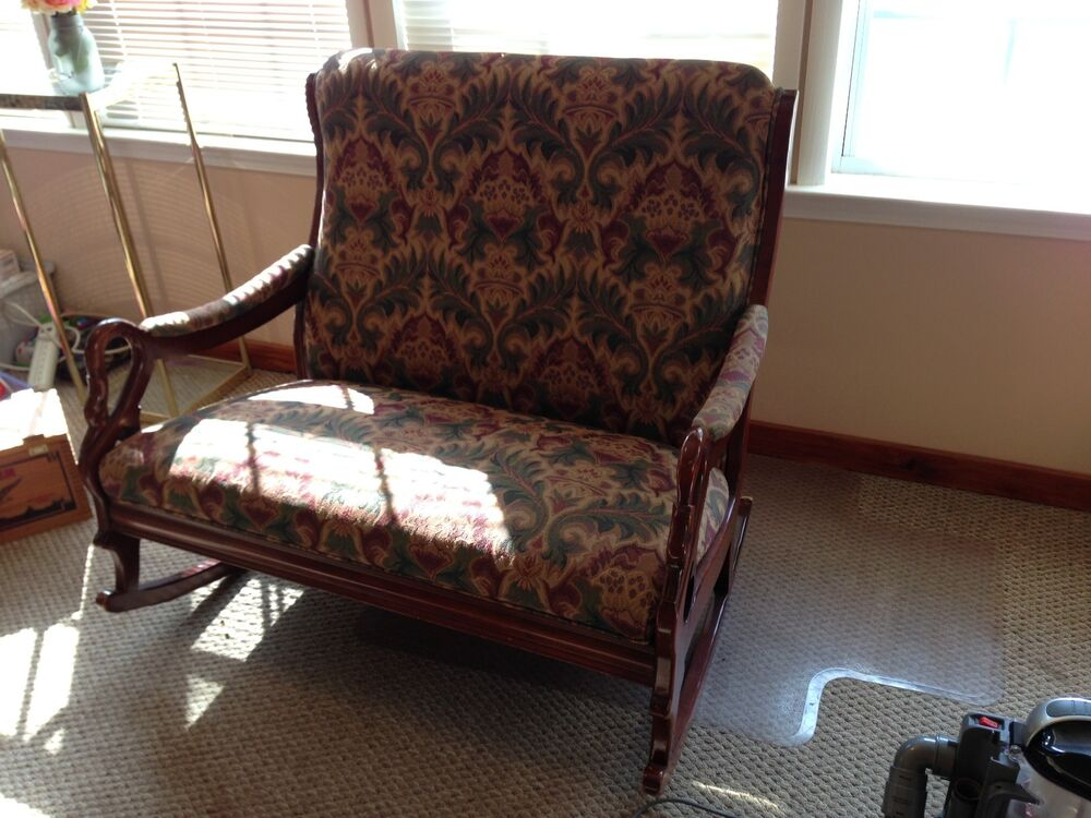 Double wide Upholstered rocking chair  eBay