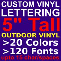 "5"" Custom Vinyl Lettering. Vinyl STICKERS, DECALS, LETTERS"