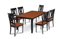 SUNDERLAND DINING ROOM TABLE SET WITH WOOD SEAT CHAIRS IN