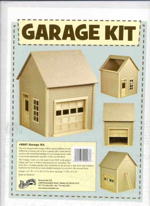 Garage Kit by Houseworks 9997 unfinished wood 112 scale