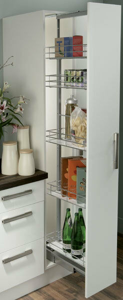 HAFELE SOFT CLOSE 400MM WIDE PULL OUT TALL LARDER UNIT