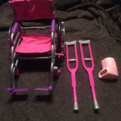 Wheelchair Ebay Tolix Chair Cushion My Life As All American Girl Doll Crutches And Cast Set Pink Purple 2166428056 |